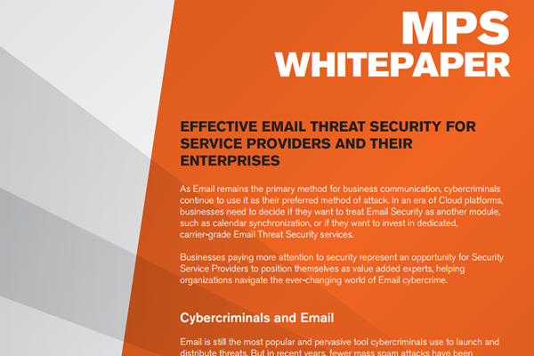 EFFECTIVE EMAIL THREAT SECURITY